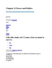 Chapter 12 Power and Politics.docx