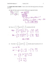 Fall 2011 Midterm1 Section 1 solutions