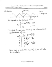 Note#106 Fourier Series Triangular Wave