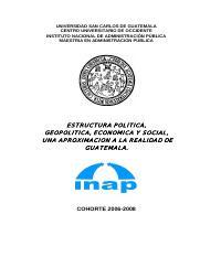 Geografia Estructura Politica De Guatemala Pdf