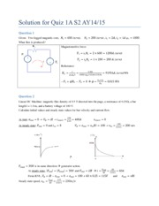 Solution for Quiz 1