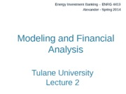 Modeling and Financial Analysis Powerpoint