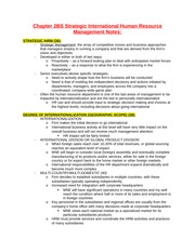 Chapter 2BS Strategic International Human Resource Management Notes