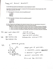 Supply and Demand Worksheets with Answers - H1 H8 Supplul Md ...
