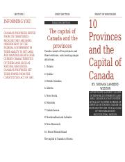 10 provinces and the capital of canada.docx