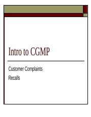 Customer Complaints and Recalls (1).ppt