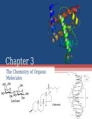 Chapter 3- Chemistry of Organic Molecules(1)(1)(1) (1)