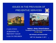 Brody Issues in Preventive Services-Vision 11 .3.11