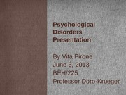 Psychological Disorders Presentation