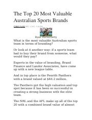 The Top 20 Most Valuable Australian Sports Brands.docx