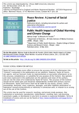 Public Health Impacts of Global Warming