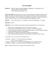 EST 385 Syllabus with Chapter Questions