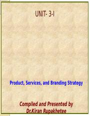 Unit 3-I- Managing Products, Product Classification, Product Lines