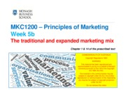 MKC1200_Week 5b_Marketing Mix and Extended Mix_1slide per page