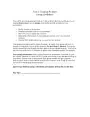 Unit 2 - Group Presentation Guidelines
