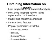 Obtaining Information on Bonds