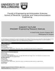 FINAL ENGG851 Aut Subject Outline