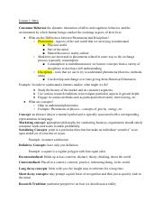 Consumer Behavior Exam 1.pdf