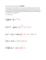 Business Calculus Unit 3 Review_Fall2016_ANSWERS (1)