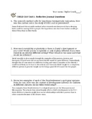 Unit 1 Journal Questions