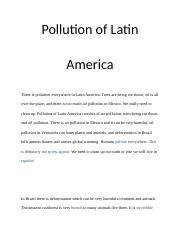 Pollution of Latin Americ1.docx