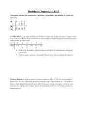 Worksheet 3