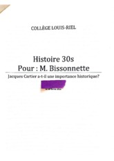 Jacques Cartier Essay