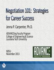 Negotiation_101_-_Strategies_for_Career_Success_NDSU_November_2013_Grad_Students