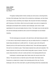 Dantes Inferno Essay Final Essay  Italian W Final Essay   Pages Dantes Inferno Landscape Short Essay Research Essay Topics For High School Students also Term Paper Essay  Internet Letter Wriitng Service