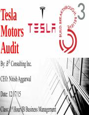 Tesla Motors Audit.ppt