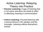 Active Listening speech lecture notes power point