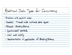 Lecture Notes CSE132 2008-02-26 Abstract Data types for Concurrency