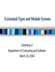 ExistentialTypesandModuleSystems