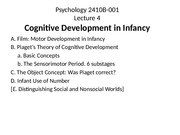 Lecture 4 2015 Infant Cognition for posting