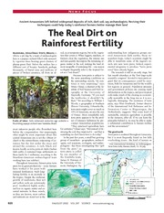 Mann, Charles (2002) Real Dirt on Rainforest Fertility