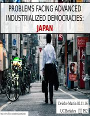 Problems Facing Advanced Industrialized Countries - Japan
