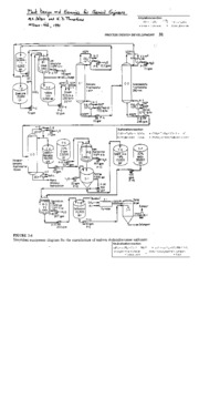 Detergent process flow diagram with annotation