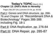 Quiz 4 Notes: DNA Repair
