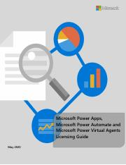 Power Apps Power Automate and Power Virtual Agents Licensing Guide - May 2020.pdf