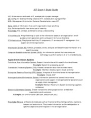 IST Exam 1 Study Guide