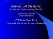 Intellectual Disability Notes