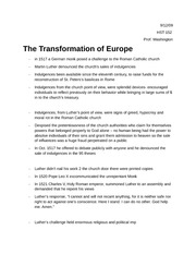 The Transformation of Europe, Class notes