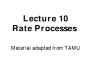 Lect 10 rate processes