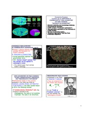 Cosmology and the Geometry of the Cosmos notes