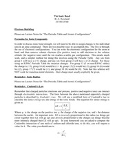 Lecture 8 NotesThe Ionic Bond