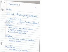 Engi 9113 (2016) - Notes 2016-10-06 Thermodynamics Notes from Previous Yr