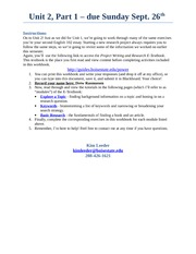 PoWeR Workbook Unit 2 Part 1