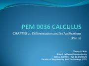 14199_Chapter 2 Part 2 - Differentiation and its Application