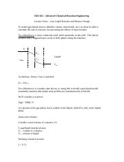 Gas-Liquid Kinetics