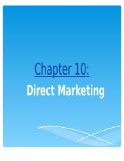 NEW Session  10 - Direct Marketing.ppt